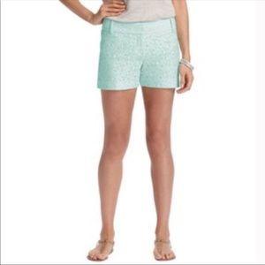 Loft Mint Green Lacey Shorts Size 0